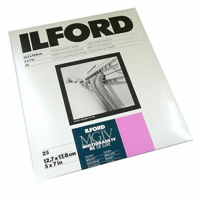 Ilford Multigrade IV RC Deluxe Glossy Paper / 12.7x17.8cm / 5x7 inch / 25 Sheets