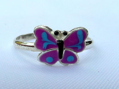 Sterling Silver (925) Adjustable  Butterfly   Toe Ring  !!!    New !!
