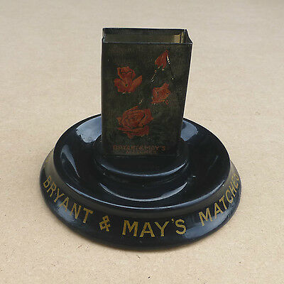Vintage BRYANT & MAY'S Match Holder / Match Box Holder