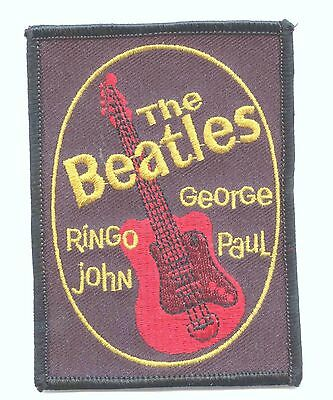 RARE MINT  THE BEATLES FAN CLUB BADGE PATCH RINGO GEORGE JOHN and PAUL