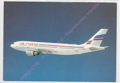 Cpsm Avion Plane Air Charter Airbus A 300 F Bvgt