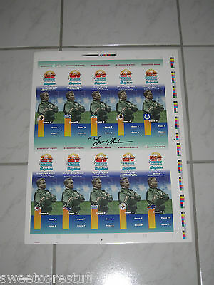 Don Shula Signed 1993 Miami Dolphins Uncut Ticket Sheet  COA FREE SHIPPING