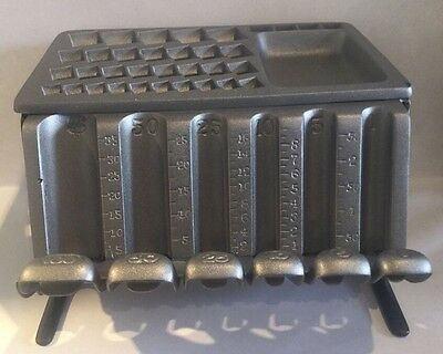 Vintage 1890 Cast Iron Staats  Banking Money Changer