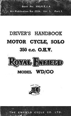 Royal Enfield WD model WD/CO drivers handbook