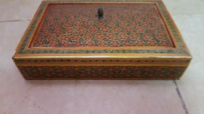 Antique Jewelry box Premium Quality Orient-Syrian Handmade Mosaic Inlay Wood