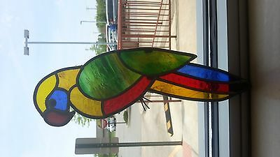 Colored Glass Parrot For Decoration