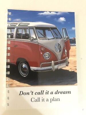 2018 - 2019 financial year diary Red Kombi With Dream quote A5