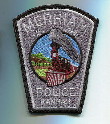 Merriam Kansas Police Patch ( OLD STYLE - USED) // Train