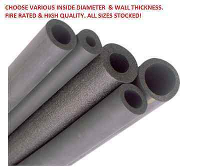 """Air Conditioning Pipe Insulation 2M Tube 9 13 19 Mm Thickness / 1/4"""" - 1 1/8"""" Id"""
