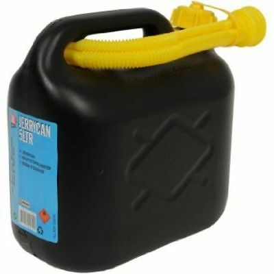 Plastic 5 &10 Ltr Car Fuel Petrol Diesel Water Jerry Can Container With Spout Uk