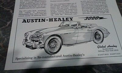 Lot 23 ads mg triumph photo austin healey jensen spitfire tr6 british Leyland