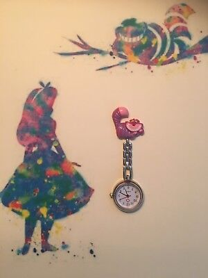Cheshire Cat Handmade Nurse / Vet Nurse / Student Fob Watch.
