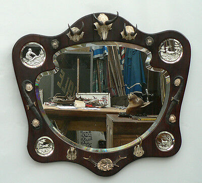 an outstanding hunting wall mirror ca. 1910