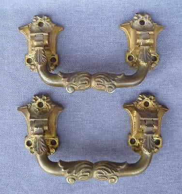 Antique pair of door handles 19th century France made of ormolu