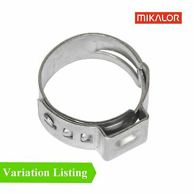 Mikalor Single Ear Plus Stainless Steel Hydraulic Hose O Clips Clamps Water Pipe