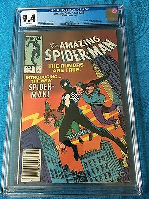Amazing Spider-Man #252 - Marvel - CGC 9.4 NM White Pages - 1st Black Costume