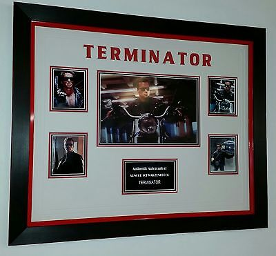 *** UNIQUE TERMINATOR Arnold Schwarzenegger Signed Autograph PICTURE PHOTO ***
