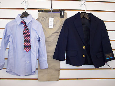 Infant & Toddler Boys $64.00 Dockers Navy & Khaki 4-Pc Suit Size 18 Months - 4T