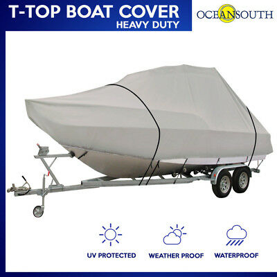 """HEAVY DUTY T-TOP BOAT COVER FITS 23'-25' L x 114"""" BEAM WIDTH"""