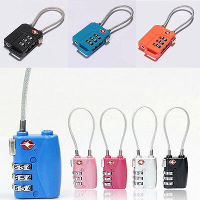 New TSA Resettable 3-Digit Combination Travel Luggage Suitcase Lock Padlock A