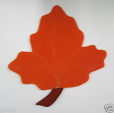 LEAF, Precut Stained Glass Mosaic Art Stepping Stone Inlay kit, FALL
