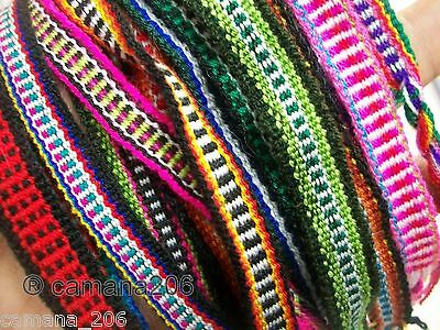 LOT of 200 Friendship Bracelets Woven Very Colorful  **FREE SHIPPING TO US**