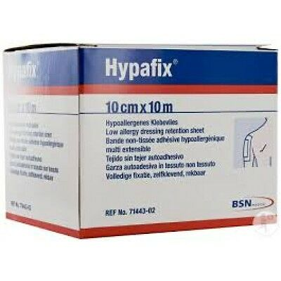 Hypafix Self Adhesive Dressing Retention Tape (10cm x 10m)  Strong, Easy Removal