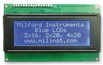 MPN: 6D161 _ Lcd 2X16 Serial Interface Blue _ MILFORD INSTRUMENTS