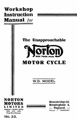 Norton 16H WD instruction manual Ref: Book 0863