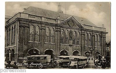""" Monmouth - Shire Hall  "".  Vintage Postcard."