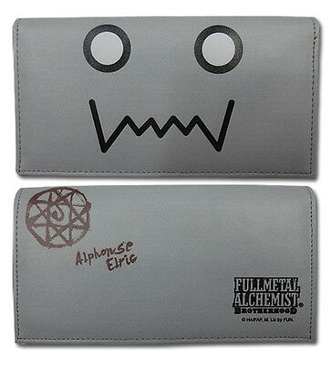 **License** Fullmetal Alchemist Brotherhood Alphose Al Gray Bifold Wallet #80075