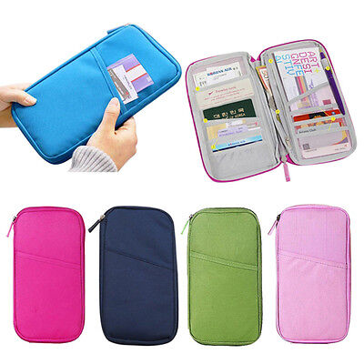 Multifunctional Travel Passport Holder Ticket Wallet Handbag ID Credit Card Case