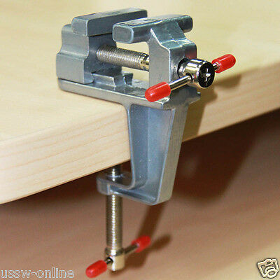 Mini Table Vise Clamp Pliers Aluminium Hand Tools for Jewellers Model Building