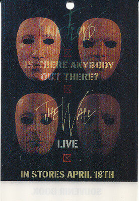 Pink Floyd Is There Anybody Out There? RARE hologram movable collectible card