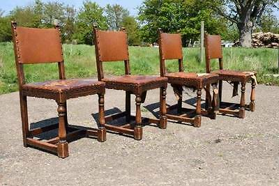 Vintage Antique Solid Wooden Arts And Crafts Dining chairs For Restoration