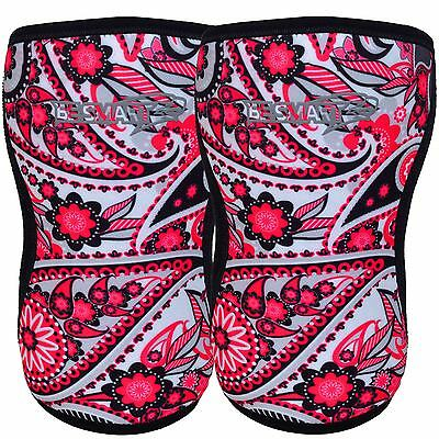 Knee Sleeve Pair Powerlifting Weightlifting Patella Support Brace Protector Lady