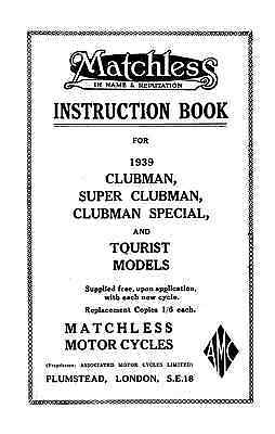 1939 Matchless instruction book