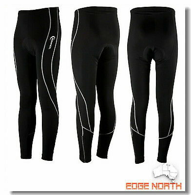 Bike Bicycle Cycling Long Pants Padded Riding  Snow Ski Skate Tights black C616