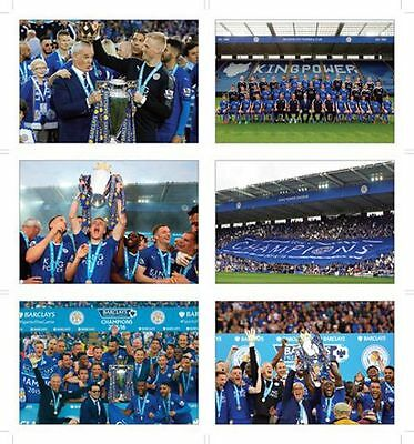 Leicester City Champions 2016 Winners POSTCARD Set