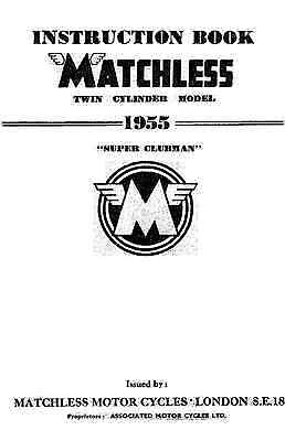 1955 Matchless Twin cylinder models maintenance manual