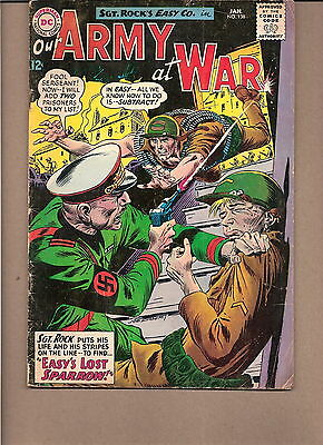 """Our Army At War  #138 1964  Dc  Vg  """"sgt. Rock's-Easy Co."""" 1St Sparrow"""