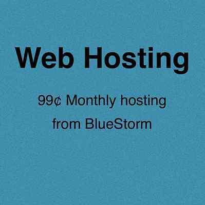 Montly Web Hosting From BlueStorm