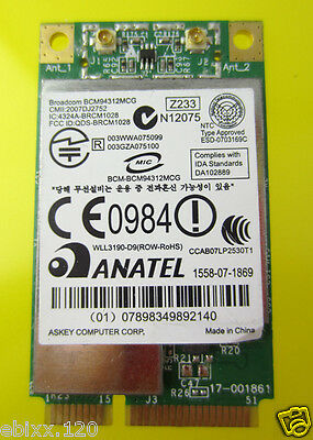 BroadCom BCM94312MCG BCM4312 459263-001 Mini PCI-E Wireless Lan WLAN Wifi Wi Fi