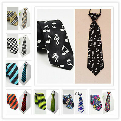 Father & Son Matching Neck Tie Set Men's Slim & Boys' Elastic Neck Tie Set