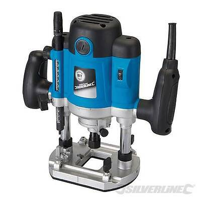 "Silverline Diy 1500W 1/2"" Plunge Router - 264895"