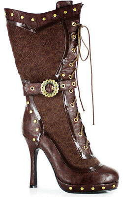 Adult Womens Victorian Steampunk Boots Fancy Dress Halloween Costume