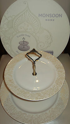 Denby Monsoon  Lucille Gold  Cake Stand    New
