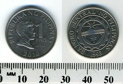 Philippines 2010 -  1 Piso Nickel Plated Steel Coin - Jose Rizal