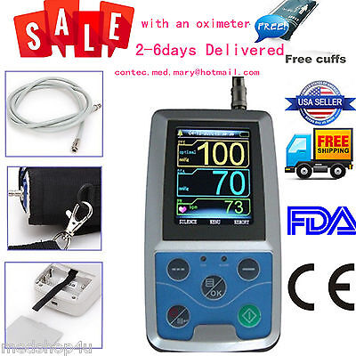 CONTEC FDA Ambulatory Blood Pressure Monitor+USB Software 24h NIBP Holter ABPM50