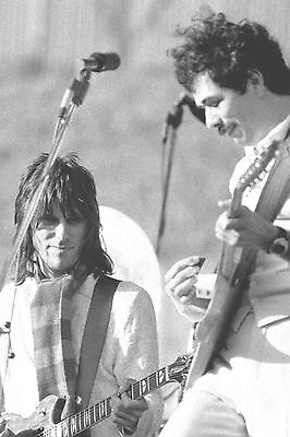 """CARLOS SANTANA & JEFF BECK in OAKLAND, CA 14"""" x 21"""" 1976 Days on the Green 3"""
